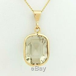 Ladies Pendant 18ct (750, 18K) Rose Gold Smoky Quartz Stone Pendant