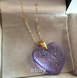Lalique Pendant Roses Truly Beautiful, These Roses Wont Die, 9ct Gold/ New Boxed