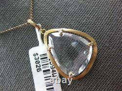 Large 12.53ct Diamond & Aaa White Quartz 14kt Rose Gold Dia By The Yard Pendant