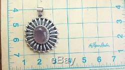 Large Oval Rose Quartz Fine Sterling Silver 925 Pendant 60g GAM 504
