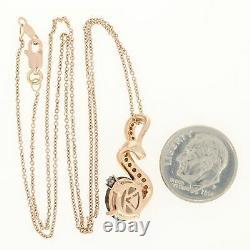 Le Vian Oval Cut Smoky Quartz & Diamond Pendant Necklace 14k Rose Gold. 25ctw