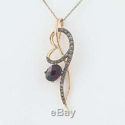 Le vian rhodolite garnet smoky quartz pendant necklace 18 14k le vian rhodolite garnet smoky quartz pendant necklace 18 14k rose gold aloadofball Images
