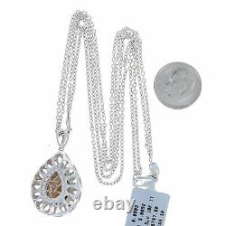 Le Vian Smoky Quartz Diamond Pendant Necklace Sterling Rose Gold 925 18k 5.08ctw