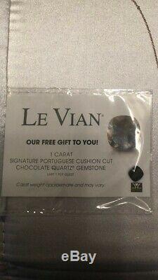 Le vian necklace 1 ct pendant with a free chocolate quartz 1 ct stone pendant