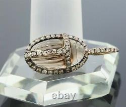 LeVian 18K Rose Gold Champagne Diamond&Smoky Quartz Scarab Beetle Pendant/Charm