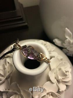 LeVian Grape Amethyst, White Topaz, Smokey Quartz Pendant in 14k Strawberry Gold