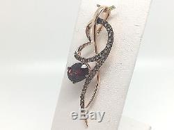 Levian 14k Rose Gold Rasberry Rhodolite Garnet & Chocolate Quartz Pendant