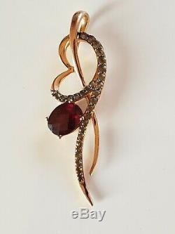Levian 14k Rose Gold Raspberry Rhodolite Garnet Quartz Pendant