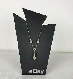 Links Of London Rose Quartz Pendant Necklace Sterling Silver 925
