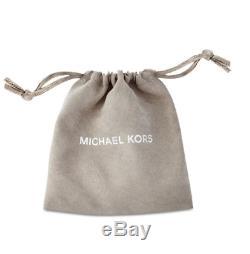 MICHAEL KORS MKJ5252791 Rose Gold Blush Pink Stone Pendant Necklace MKJ5252