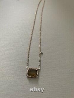Meira T Rose Gold Smokey Quartz Pendant Necklace MSRP $1,095.00