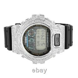 Men's G-Shock DW6900 White Custom Bezel Silicone Band Designer Watch