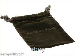 Michael Kors Rose Gold Tone, Mk Monogram, Heart Charm, Mop, Crystal, Necklace Mkj5641