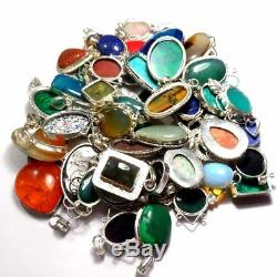 Mixed Gemstone Wholesale lot Free Shipping 100 Pcs Pendants Lot