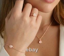 Monica Vinader 3 Kit Rose Gold Vermeil Siren Bracelet, chain+pendant, Ring