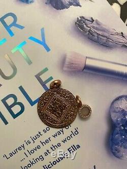 Monica Vinader Rose gold coated mini Marie with Rose Quartz pendant
