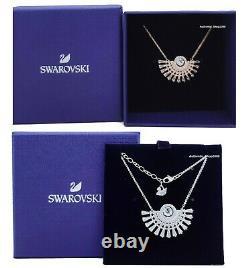 NEW SWAROVSKI Rhodium Rose Gold Sparkling Dance Dial Up Necklace 5573694 5578116