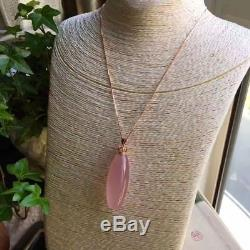 Natural Star Rose Quartz Crystal Pendants Nice Necklaces AAAA Silver buckle