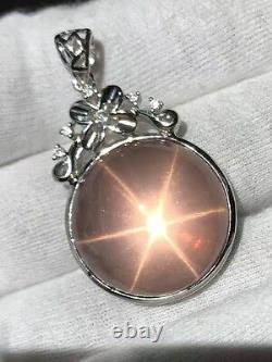 Natural Star Rose Quartz SPHERE Crystal Specimen Pendant Healing