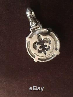 New Judith Ripka Sterling Rose Quartz and Diamonique Pendant / Enhancer