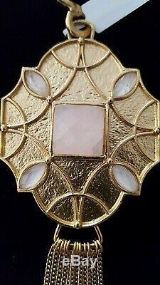 New Stephanie Kantis Santorini Rose And White Quartz Goldplated Pendant