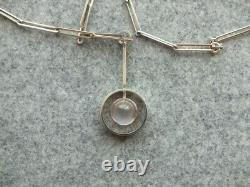 Niels Eric From Silver Pendant Necklace with Rose Quartz Denmark