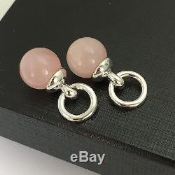 One (1) Tiffany & Co Silver and Rose Quartz Pink Fascination Ball Charm Pendant