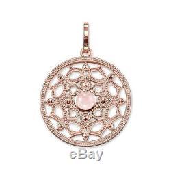 Pendant Thomas Sabo Woman PE690-536-9 Silver Rose gold Quartz