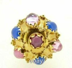 Pendant Vintage Big Years' 50 Made in Italy Gold Solid 18K