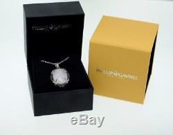 Phillip Gavriel Sterling Silver 18k Gold Rose Quartz & Rhodlite Garnet Pendant
