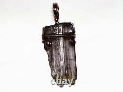 Pink Clinozoisite Crystal Necklace 12.5 ct Lavender Gemstone Pendant Rose Gold