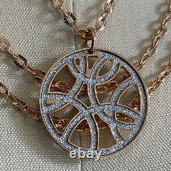 REBECCA Italy $360 Rose Gold Triple Chain Necklace NWT Layered-Look Pendant