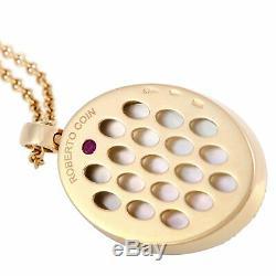 Roberto Coin 18K Rose Gold Diamond and Smoky Quartz Oval Pendant Necklace
