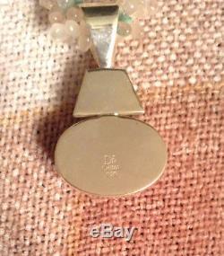 Rose Quartz And Variscite Sterling Silver Pendant Necklace