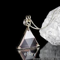 Rose Quartz & Danburite Star of David Pendant Vogel Cut Synergy 12 Stone A ++++