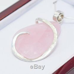 Rose Quartz Pendant Necklace by Stones Desire