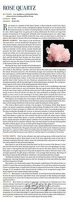 Rose Quartz Star of David Vogel Crystal Pendant. 925 SS