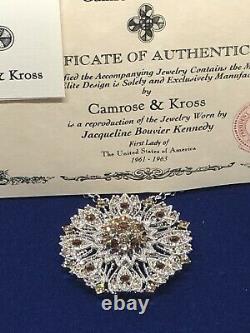 Rose Window Pendant Camrose Kross JBK Jacqueline Bouvier Kennedy Original Box
