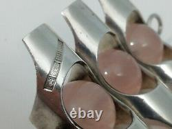Silver 925 Kultateollisuus KY Pendant With Rose Quartz Made In Finland No Chain