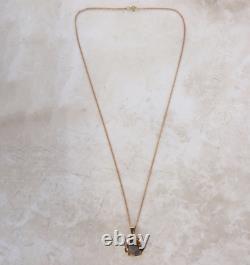 Smokey Quartz 14ct Rose Gold Pendant Necklace