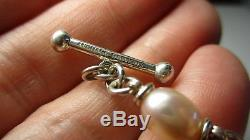 Sterling Silver Michael Dawkins Amethyst Rose Quartz Hematite 18 Inch Necklace