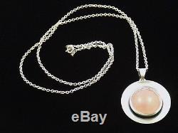 Sterling Silver Necklace by N E FROM of Denmark Niels Erik From Rose Quartz
