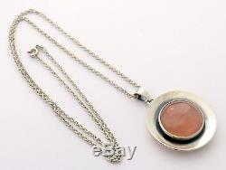 Sterling Silver and Rose Quartz Necklace by N E FROM of Denmark Niels Erik From