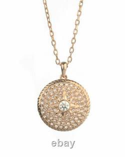 Swarovski 5374560 Rose Gold Pink Crystals Women's Locket Pendant Necklace