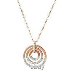 Swarovski SWAROVSKI Circle Rose Gold Crystal Pave Circle pendant necklace par