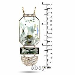 Swarovski Stainless Steel Rose Gold-Plated and Crystal Pendant Long Chain Nec