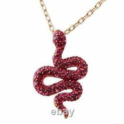 Swarovski necklace Ladies Leslie pendant rose gold × fuchsia snake 5438407 para