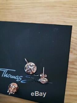 Thomas Sabo Light Of Luna Rose Gold Rose Quartz Earrings Pendant