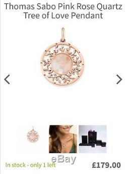 Thomas Sabo Tree of love rose quartz pendant