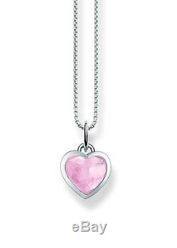 Thomas Sabo Womens Rose Quartz Heart Silver Necklace with Pendant of Length